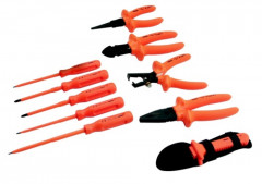 compo. 11 outils isoles dans sacoche cuir