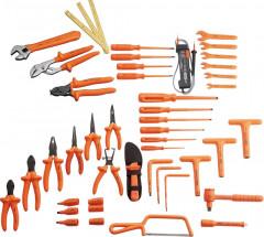 composition 45 outils isoles dans sacoche