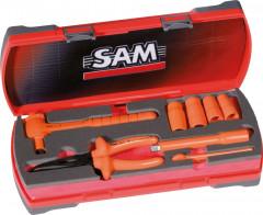 coffret 8 outils isoles 1000v douilles et accessoires 3/8