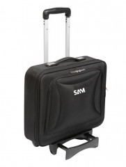 valise textile vide 440 mm avec trolley