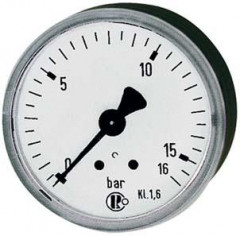 Manomètre arrière centré 40mm 0-10bar F1/8